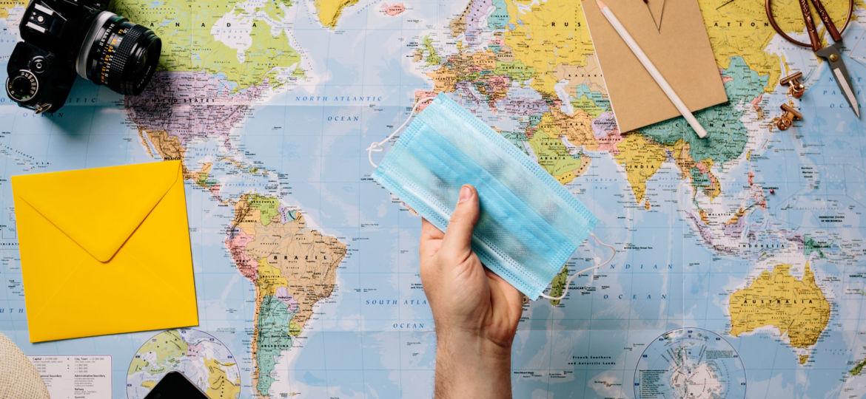 World map & mask